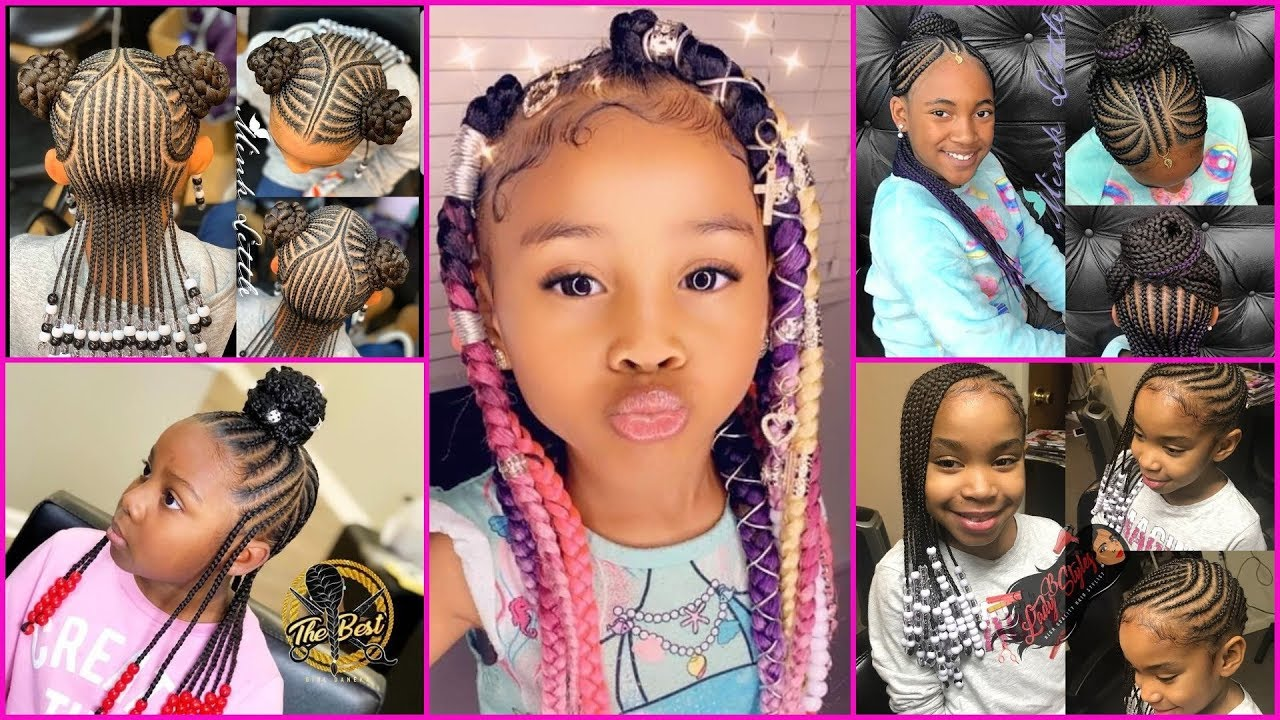 2020 Amazing Hairstyles For Kids Compilation Cute Braids Hairstyles For Kids Fashion Nigeria
