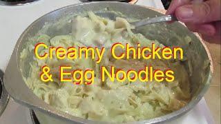 Recipe: Creamy Chicken & Egg Noodles