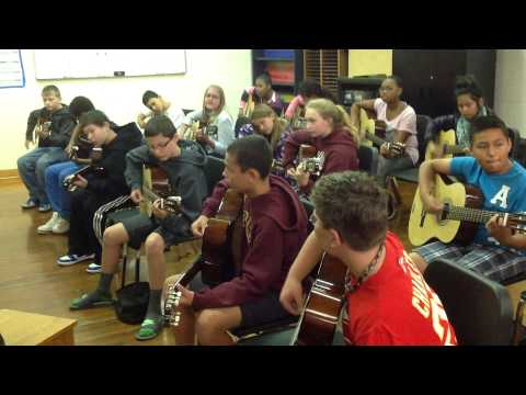 Brody Middle School 6th grade blues jam- Music Appreciation class