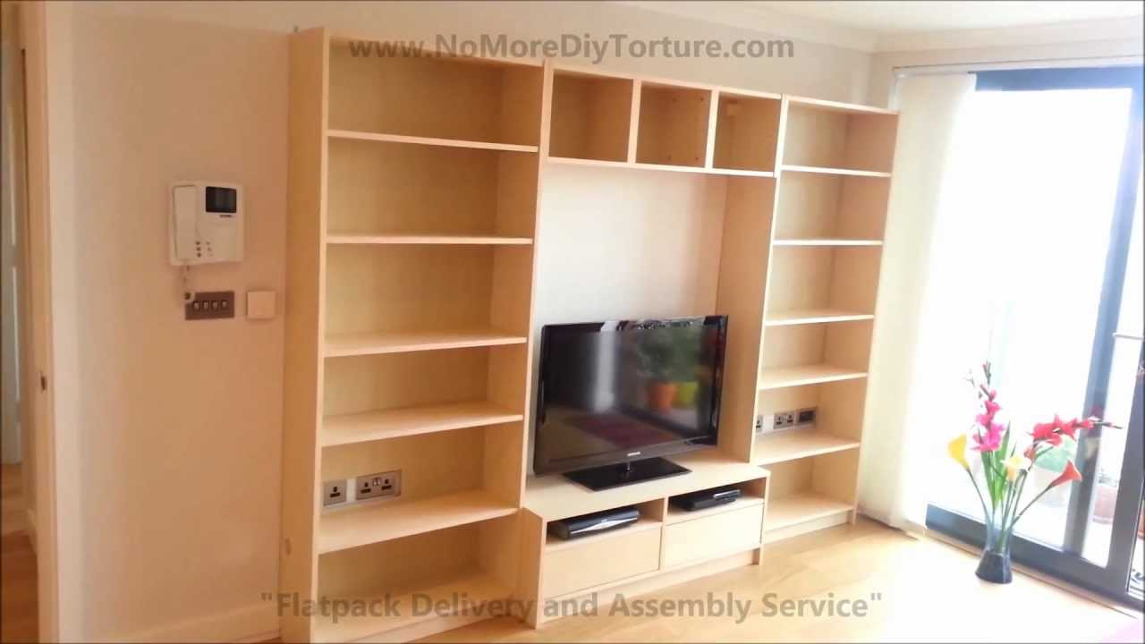 ikea billy benno tv stand with storage youtube. Black Bedroom Furniture Sets. Home Design Ideas