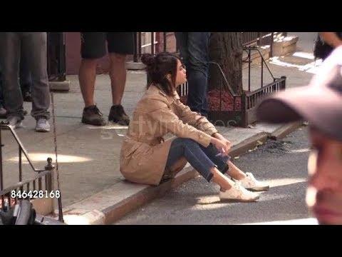 Selena Gomez, Timothée Chalamet & Woody Allen Film & Chat On Set In New York, NY 9/11/2017