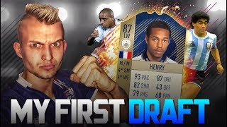 FIFA 18 | MY FIRST DRAFT | OMG I GOT 3 INSANE ICONS!!