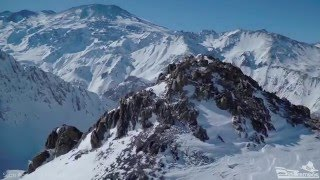 Chilean Andes Snow Aerial 4K - GoPro H4B 5.4mm Non-Fisheye Lens