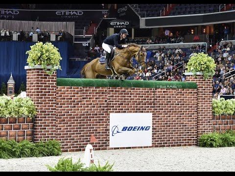 """Jos Verlooy and Sunshine jump 6'11"""" to win The Boeing Company Puissance."""