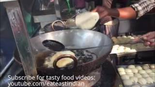Indian Street Food Bhatura | Indian Food Videos - Choley Bhature (Fried Bread)