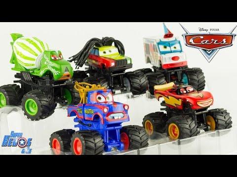 Disney Pixar Cars Toon Monster Truck Martin Flash McQueen Jouet Disney Store Toy Review Relampago