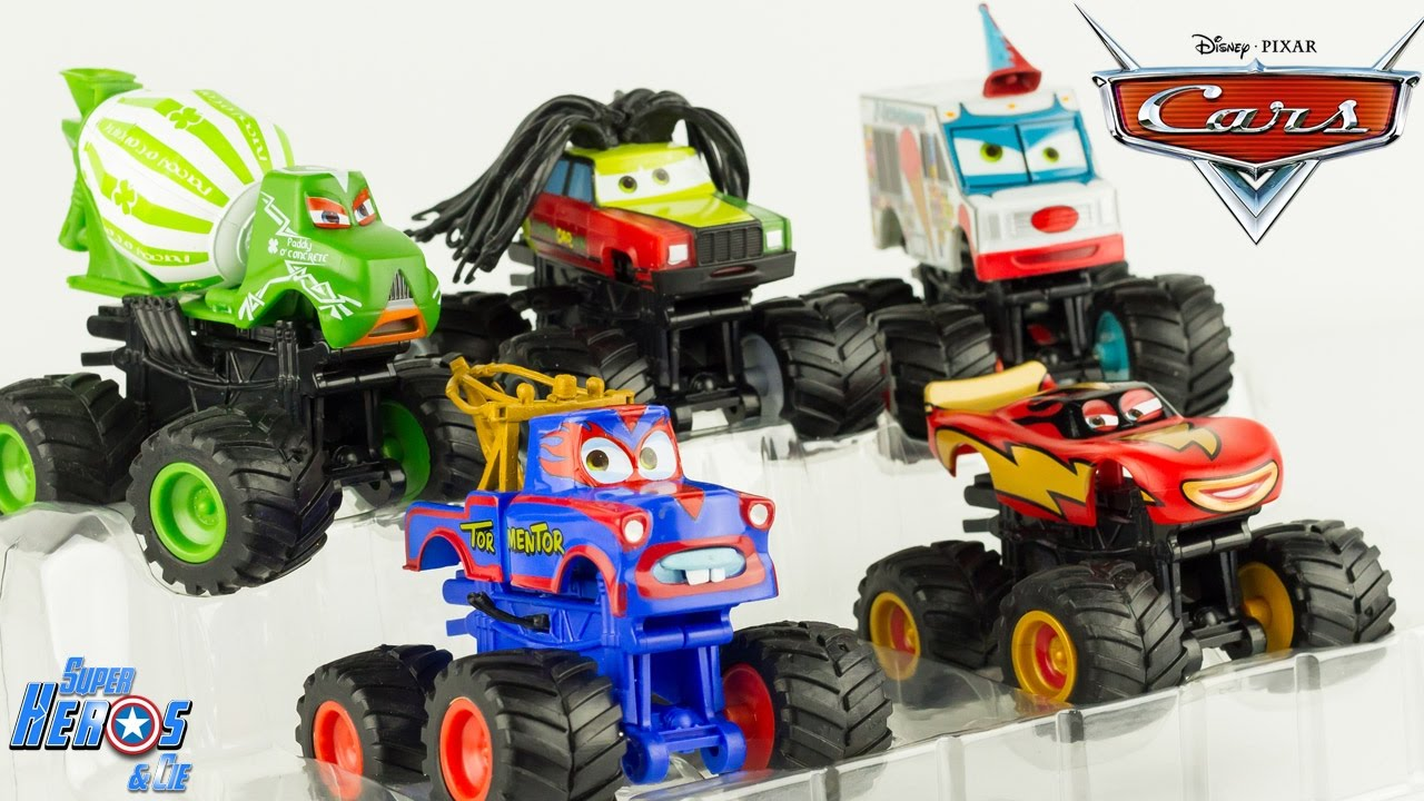 disney pixar cars toon monster truck martin flash mcqueen jouet disney store toy review. Black Bedroom Furniture Sets. Home Design Ideas