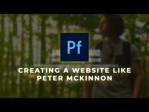 Adobe Portfolio Website like Peter McKinnon