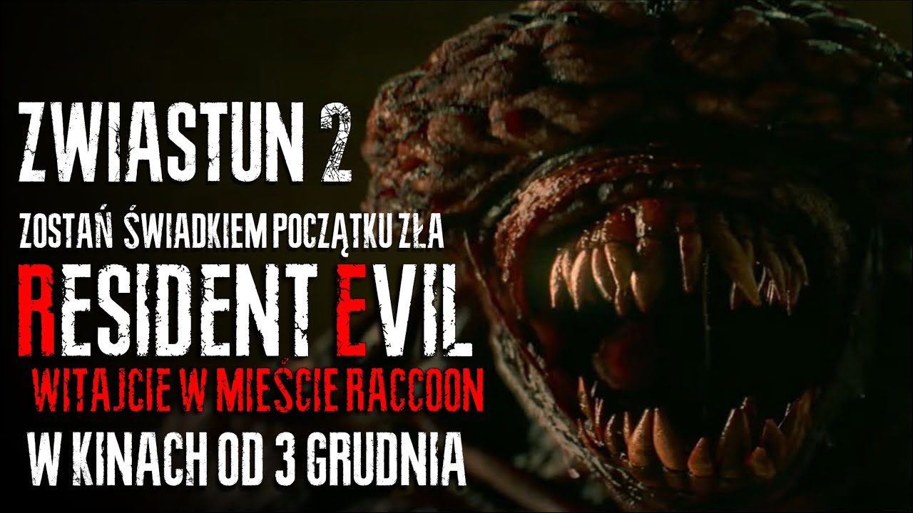 RESIDENT EVIL: WITAJCIE W RACCOON CITY    DRUGI OFICJALNY ZWIASTUN    PL 4K   