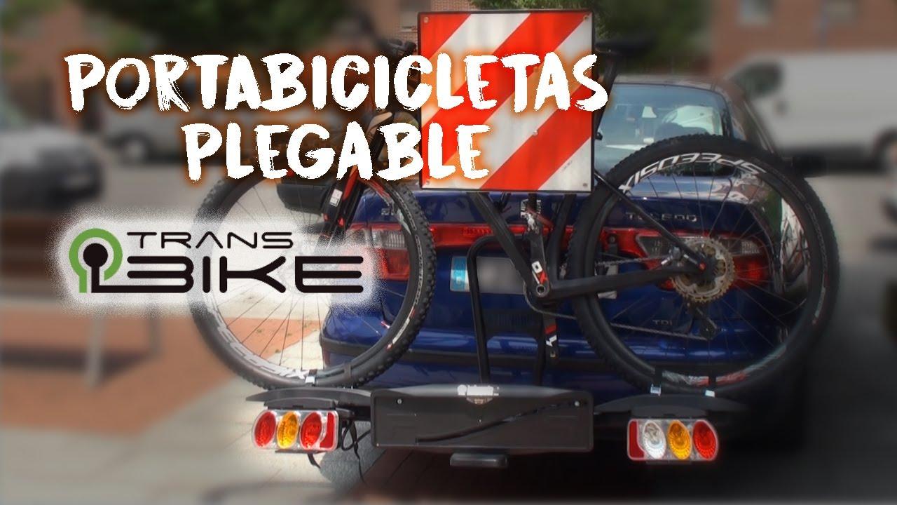 Bicicleta Greensen Portabicicletas Plegable para 4 Bicicletas con Enganche Trasero Soporte Trasero para Bicicletas Soporte para Coche Soporte De Carga 60 Kg 89x39x87cm
