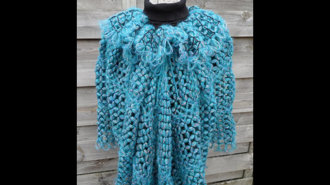 Butterfly Loom Vlinder Loom Poncho Youtube
