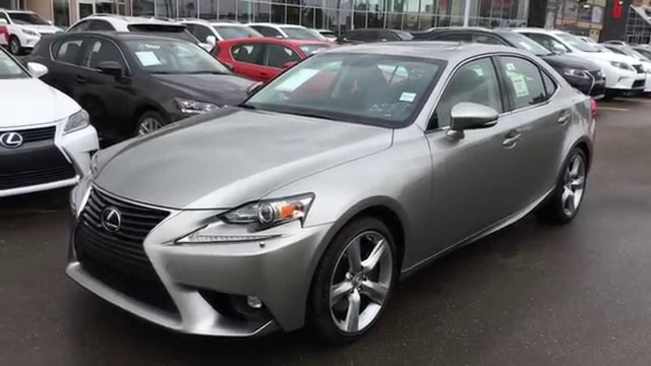 New Atomic Silver On Black 2015 Lexus IS 350 4dr Sdn AWD
