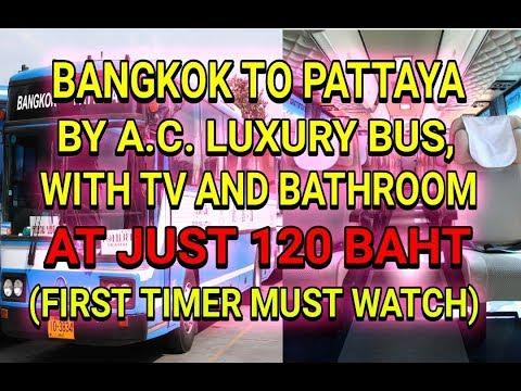 BANGKOK TO PATTAYA BY BUS (AC BUS) AT JUST RS. 120/- BHAT PER PERSON