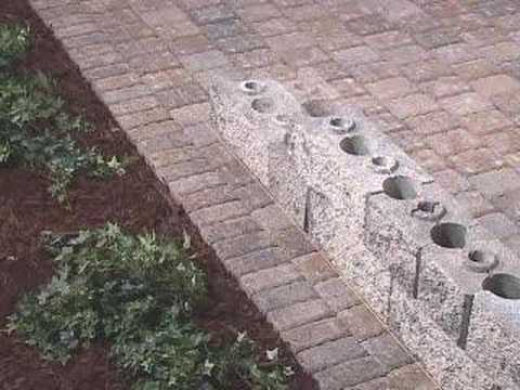 How to Build a Patio Seating Wall or Wall Panel - YouTube