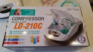 Ингалятор – небулайзер Little doctor LD 210C компрессорный(Специально сняла это видео, что бы вы могли услышать на сколько шумно для вас работает Ингалятор – небулайз..., 2016-04-13T14:12:07.000Z)