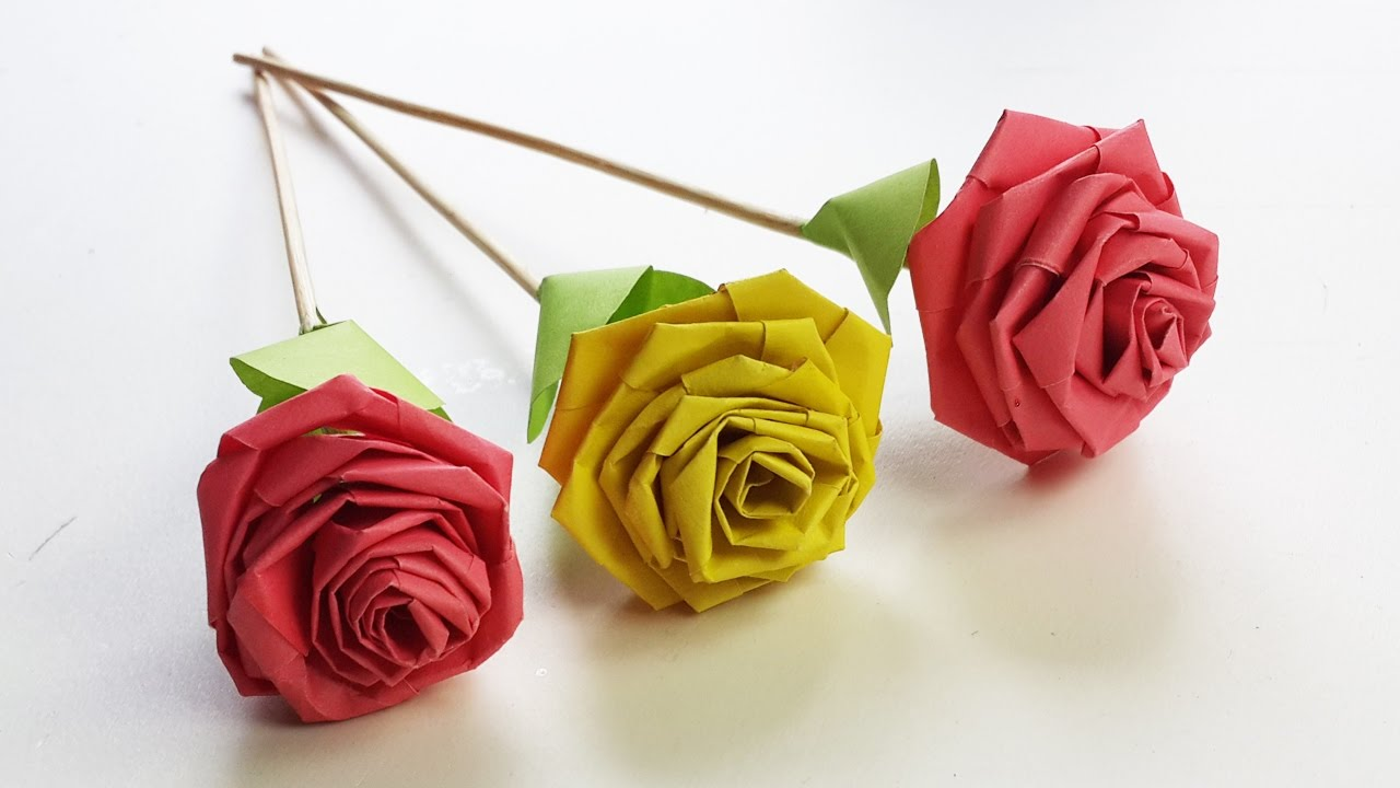 How To Make Rose With Paper Strip Quilling Rose Diy