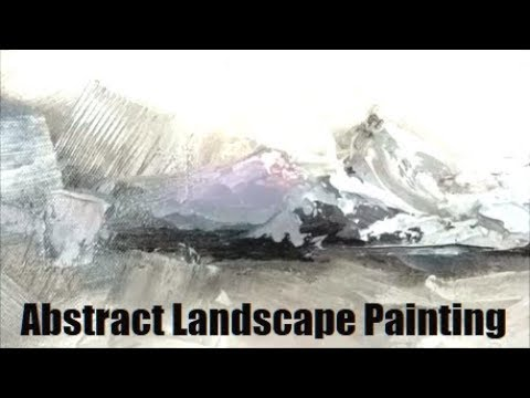 Abstract Landscape Oil painting, 'Sky Song' by Holly Van Hart