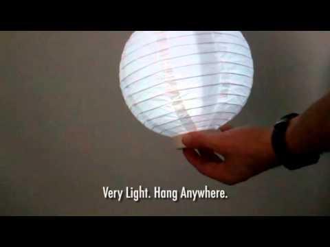 Lighted Paper Lantern