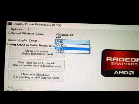 DDU | Desinstalar correctamente controladores drivers de gráfica o GPU / video