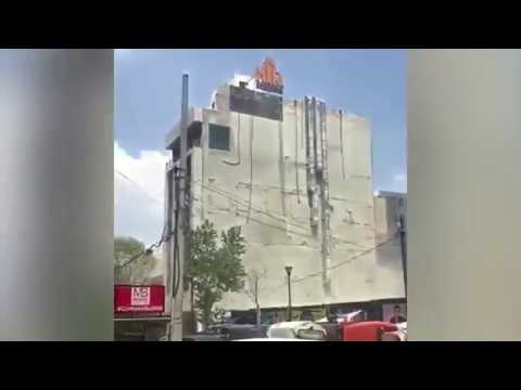Кадры землетрясения в Мексике 19.09.2017г