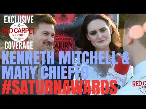 Kenneth Mitchell & Mary Chieffo #StarTrek interviewed at the 44th #SaturnAwards  Red Carpet