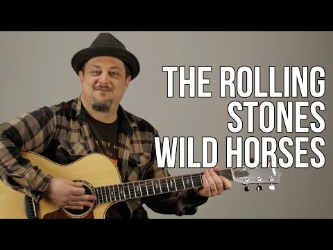 The Rolling Stones - Wild Horses Guitar Lesson - Tutorial - Chords - How to play