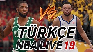 ABİMLE NBA LIVE 19 OYNADIK! WARRIORS vs CELTICS - CURRY vs IRVING!