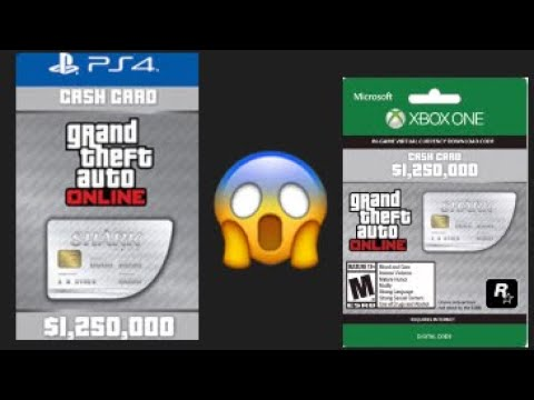 GTA5 Shark Card Redeem codes for PS4 and XBOX ONE ||NOT ...