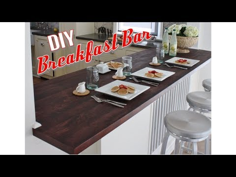 HOW TO BUILD A BREAKFAST BAR TOP (Part 2)   EXTREME KITCHEN RENOVATION   DIY BUILD