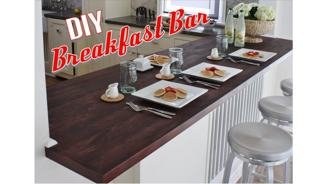 How To Build A Breakfast Bar Top Part 2 Extreme Kitchen Renovation Diy Build