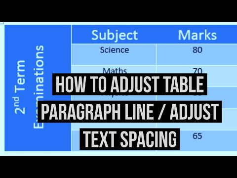 How To Adjust Table Paragraph Line Spacing Text In Ms Word 2018 2010 2007 You - Remove Line Spacing In Table Word