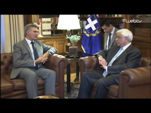 Minister Abela meeting with Greek President Prokopis Pavlopoulos in Athens