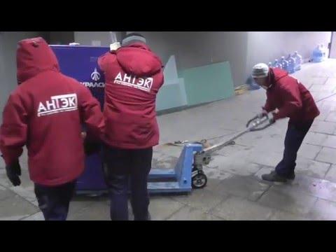 АНТЭК - погрузка банкомата для банка УРАЛСИБ (Тюмень, декабрь 2015 года)