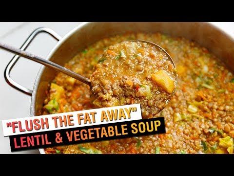 """Flush the Fat Away"" Lentil and Vegetable Soup | Vegetarian Recipe | Vegan Recipe"