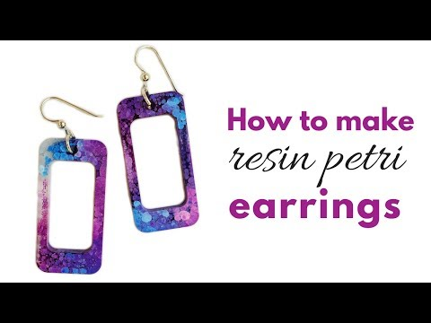 How to make resin earrings with molds
