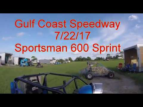 Gulf Coast Speedway 7/22/17 Sportsman 600 Mini Sprint