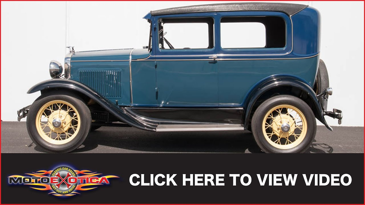 1931 Ford Model A Sold Youtube 1930 Chevy Sedan Spare Tire Mount