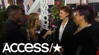 Susan Sarandon & Rosa Clemente On Raising Awareness For Puerto Rico At The Golden Globes | Access