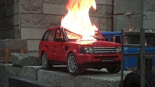DESTROYED RANGE ROVER ... Destroyed the boss's car