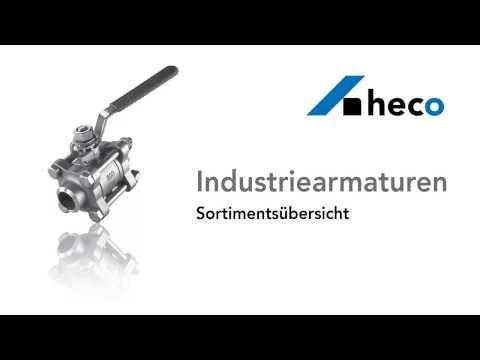 Sortimentsübersicht Industriearmaturen der heco gmbh