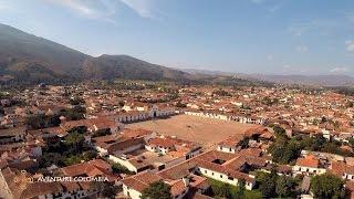 Villa de Leyva Boyaca Colombia desde el Aire con Drone