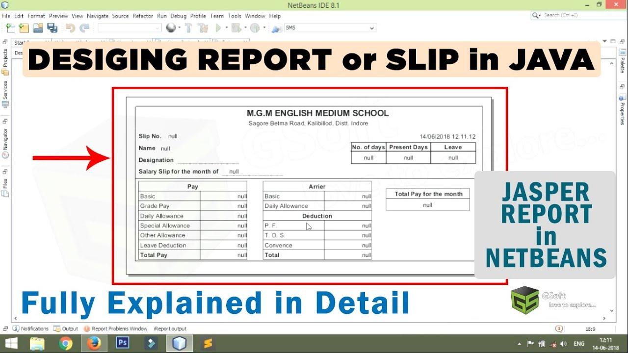 how to create a professional report in jasper report
