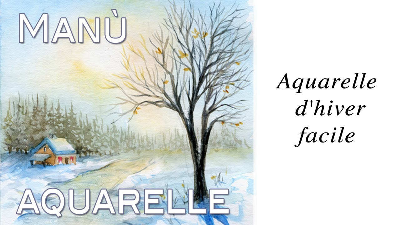 aquarelle - watercolor - d'hiver par Manù -True-painting ...