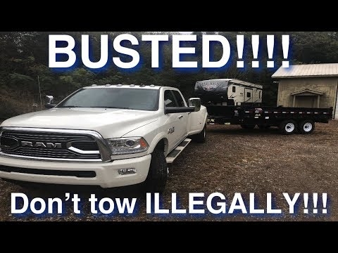 Stop ILLEGALLY towing your Fifth Wheel, Personal Trailers and RVs!