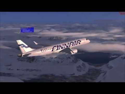 Microsoft Flight Simulator X - Finnair Embraer ERJ-190 flight from ENTC to EFHK