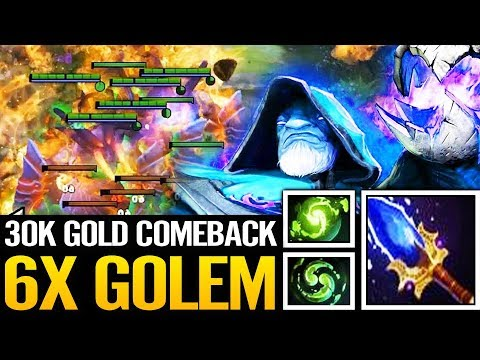 WTF IMBA Refresher Orb | x6 Golems the Dream of any Warlock Dota 2
