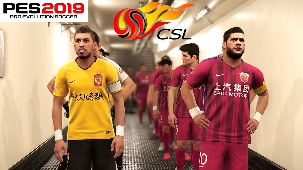 28ac10f02 PES 2019 Chinese Super League First Look - Shanghai SIPG vs Guangzhou  Evergrande 4-4