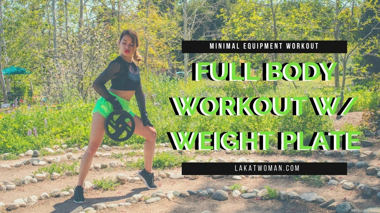 Full Body Interval Training Workout with Weight Plate