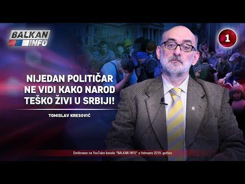 INTERVJU: Tomislav Kresović - Nijedan političar ne vidi kako narod teško živi u Srbiji! (18.2.2019)