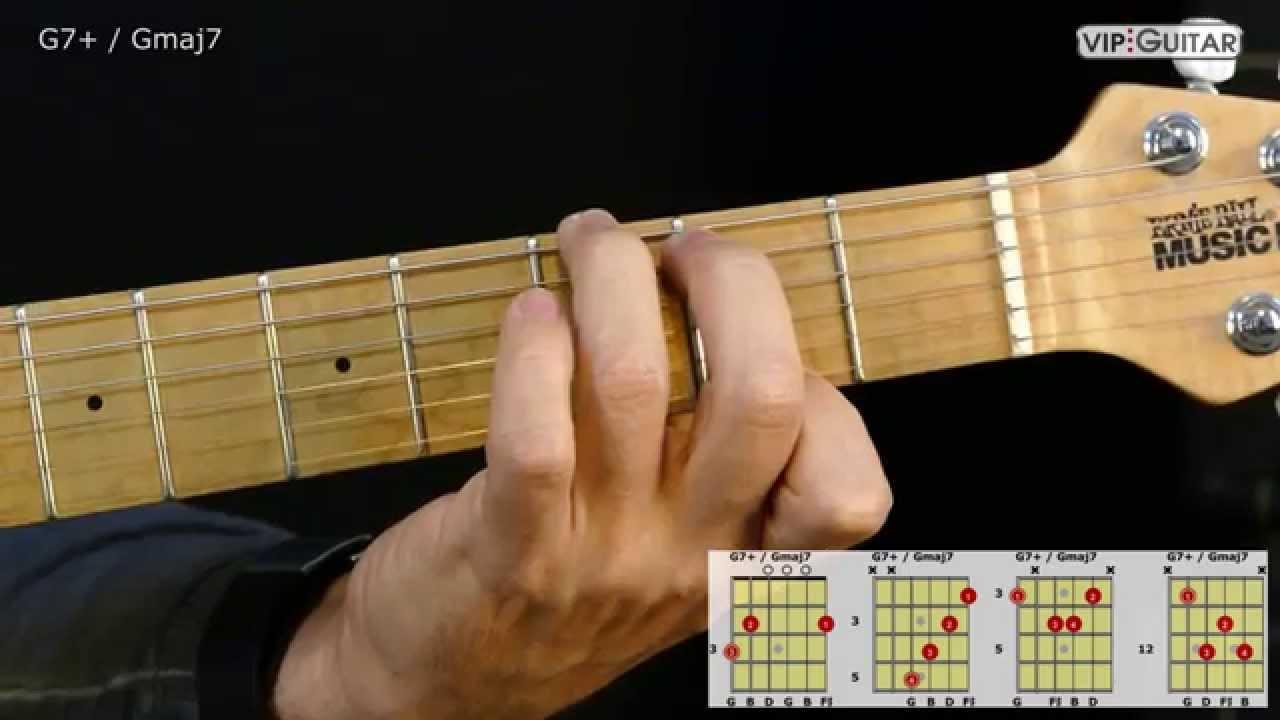 Gitarrenakkorde G7 Gmaj7 Chord Youtube